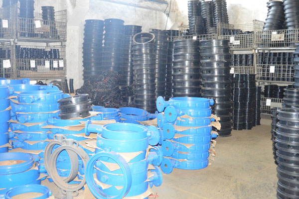 Butterfly valve body warehouse