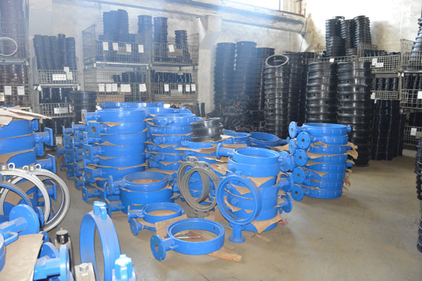 Butterfly valve warehouse