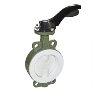 Lined wafer butterfly valve