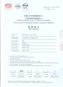 Valve plate chemical composition test certificate 2