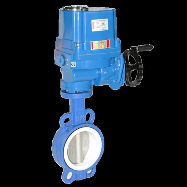 electric butterfly valve PTFE