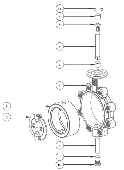 lug butterfly valve Parts