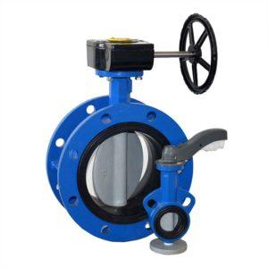 motorised carbon steel butterfly valve